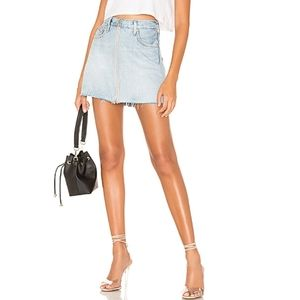 "Levi's Deconstructed Skirt Light Wash 30"" Waist"